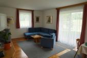 Das Foto zeigt das Wohnzimmer Ferienhaus Gregor