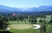 DAs Foto zeigt die Spielbahnen Golfplatz Klopeiner See Südkärnten